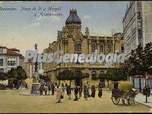Plaza de pi y margall y ayuntamiento de santander