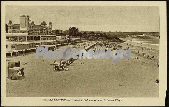 Sardinero y Balneario de la Primera Playa de Santander