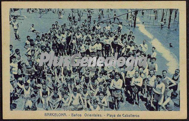Baños orientales en la Playa de Caballeros en Barcelona