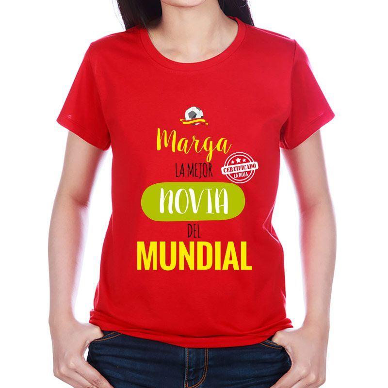 Camiseta personalizada para el/la mejor del mundial