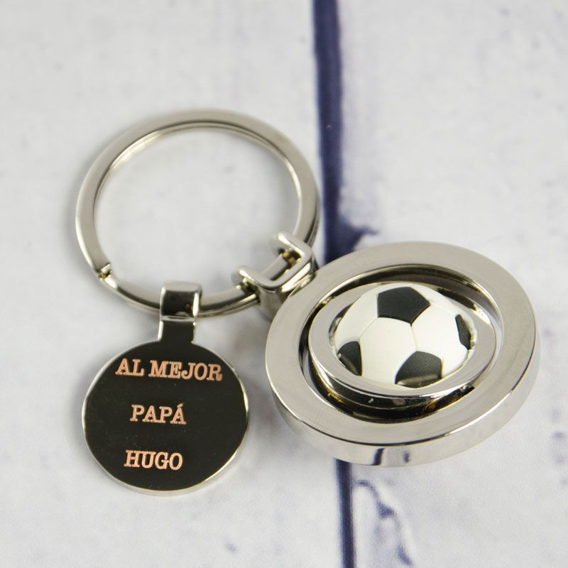 Llavero de diseño grabado para futboleros