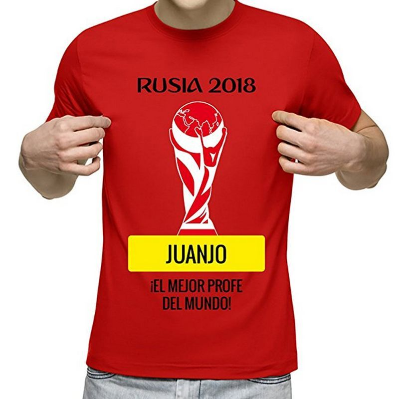 Camiseta 'Rusia 2018' personalizada con nombre y dedicatoria