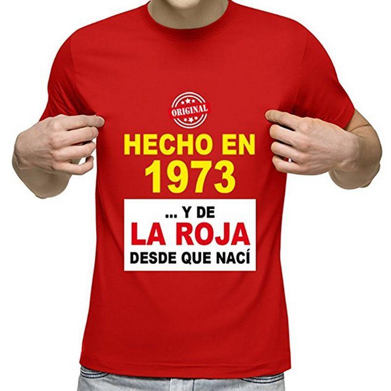 Divertida camiseta de La Roja personalizada con fecha de nacimiento