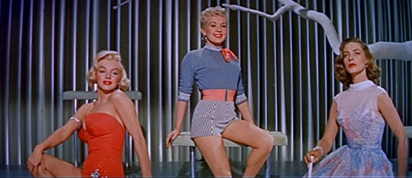 Marilyn Monroe, Betty Grabley y Lauren Bacall