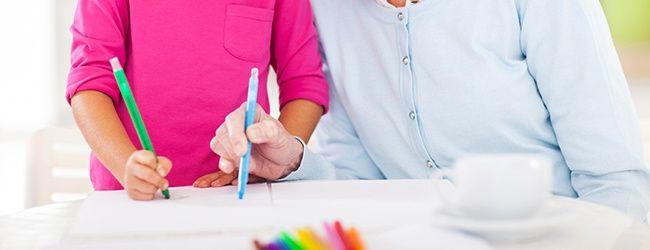 Colorear con niños