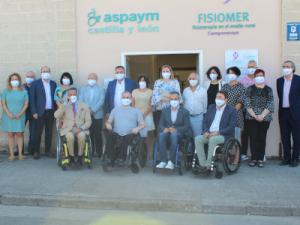 La consejera de Familia e Igualdad de Oportunidades de la Junta de Castilla y León inaugura un nuevo FISIOMER y la sede de ASPAYM Bierzo en Camponaraya (León)