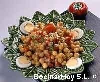 Ensalada de garbanzos con soja