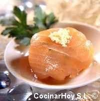 Bolitas de tartar de salmón