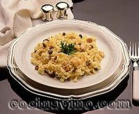 Arroz al curry con almendras