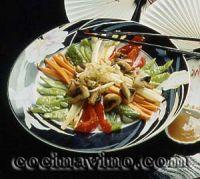 Verduras con salsa de yogur