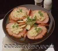 Chuletas de sajonia con manzanas