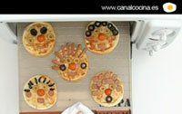 Receta: caras de pizza