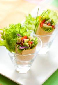Crepes fríos de verduras