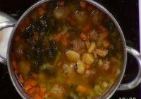 Receta de sopa juliana con albondiguillas