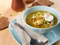 Sopa de puerros con patatas