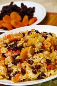 Arroz con zanahoria y con frutos secos