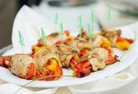 Pechuga de pollo rellena de pimientos asados