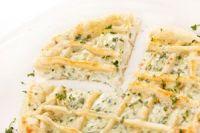 Quiche de queso de cabra y cebolla confitada