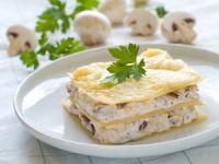 Lasaña de queso y champiñones