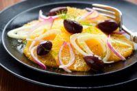 Ensalada de naranja con cebolla