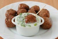Albóndigas de ternera con salsa de espinacas