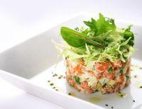 Ensaladilla con salmón y caviar rojo