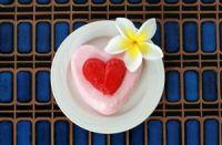 Pudin de fresa romántico