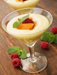 Crema de vainilla con frutas