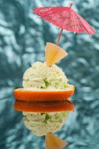 Isla de menta y naranja