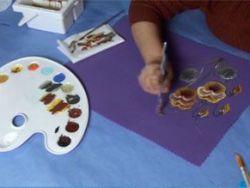 Cómo pintar un mantel individual
