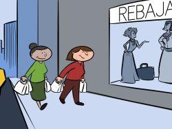 Amigas jubiladas de compras