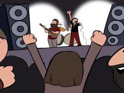 Jubilados en un concierto