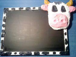 Pizarra vaca