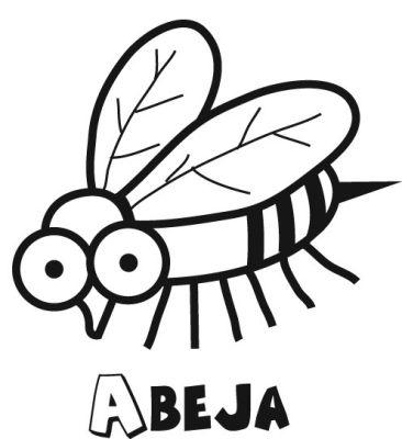 Colorear la abeja