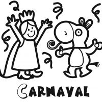 Colorea desfile de carnaval