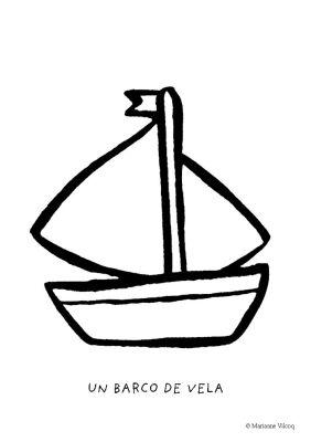 Colorear un barco de vela