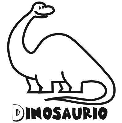 Colorear el dinosaurio