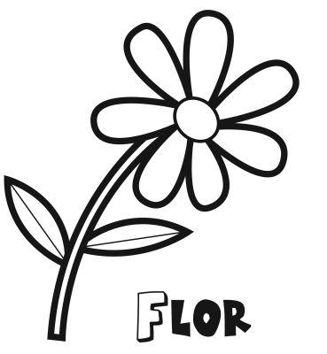 Colorear la flor
