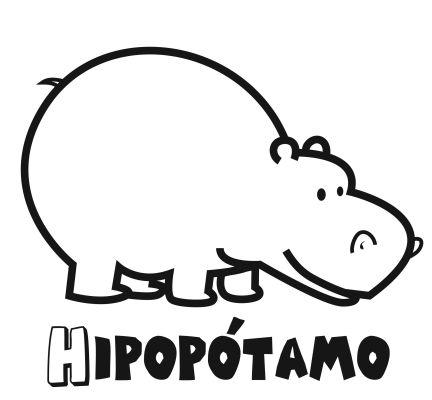 Colorear el hipopótamo