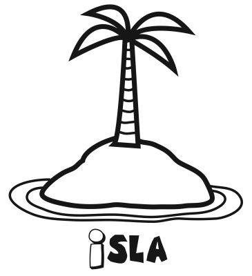 Colorear una isla