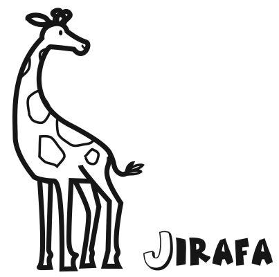 Colorear la jirafa