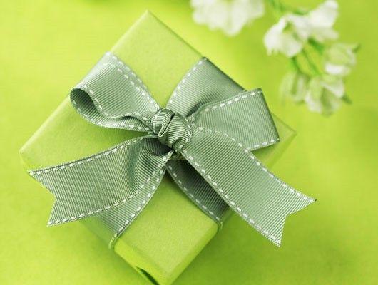 Regalo con fondo verde