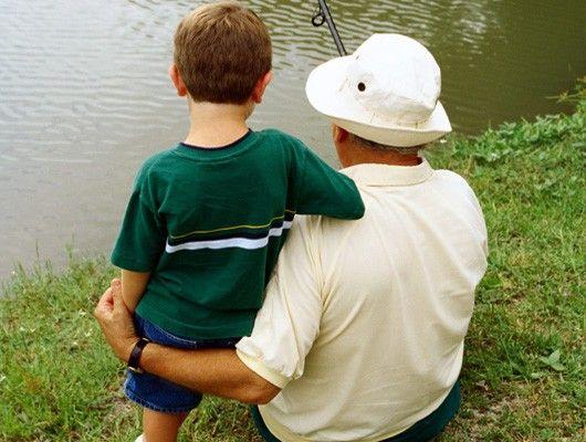 Pescando con el abuelo