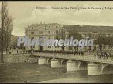 Puente de san pablo y casa de correos y telégrafos de burgos