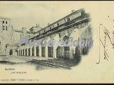 Postal dedicada del monasterio de las huelgas de burgos