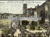 Monasterio de las huelgas de burgos. procesión de corpillos (a color)