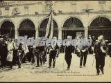 Detalle de la procesión del corpillos en el real monasterio de las huelgas de burgos