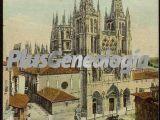 Vista vertical a color de la catedral de burgos
