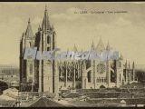 Vista panorámica de la catedral de león