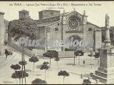 Iglesia de san pedro y monumento de santa teresa en ávila